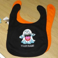 Personalised Halloween Ghost Babies Bib